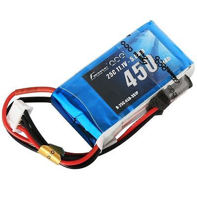 Gens ace 450mAh 11.1V 25C 3S1P Lipo Battery Pack with JST-SYP plug - SNHE