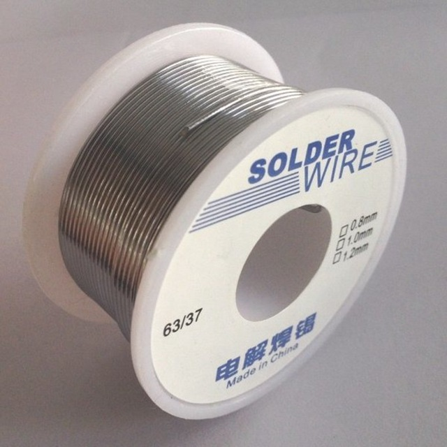 JJS 100g 63/37 1.2mm Tin Lead Soldering Wire Reel Solder Rosin Core - SNHE