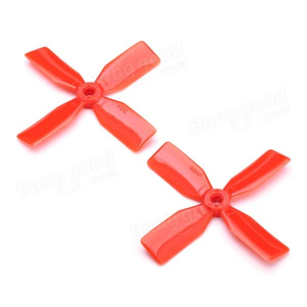 KingKong 10 Pairs 3x3x4 3030 4-Blade RED Propeller CW CCW for FPV Racer - SNHE