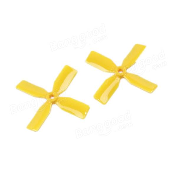 KingKong 10 Pairs 3x3x4 3030 4-Blade YELLOW Propeller CW CCW for FPV Racer - SNHE