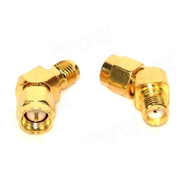 1 PCS Realacc 45 Degree Antenna Adapter Connector RP-SMA For RX5808 Fatshark Goggles - SNHE