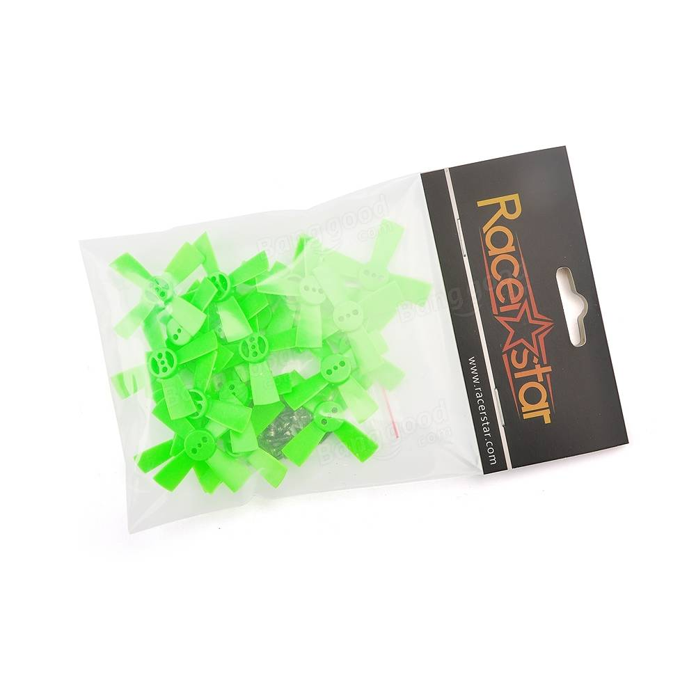 Racerstar 10 Pairs 1535 38mm 4 Blade GREEN ABS Propeller 1.5mm Mounting Hole For 60-80 FPV Racing Frame - SNHE
