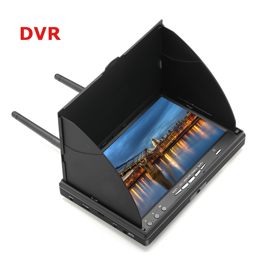 Eachine LCD5802D 5802 5.8G 40CH 7 Inch FPV Monitor with DVR Build-in Battery - SNHE