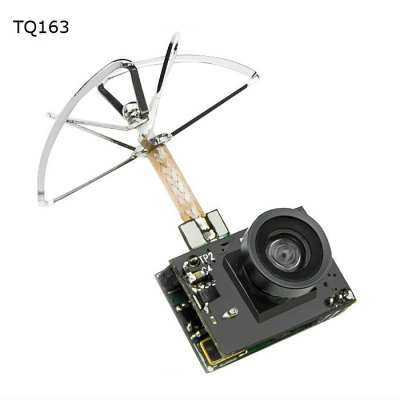 SP TQ163-200mW Super Mini 5.8GHz 40CH FPV Transmitter+600TVL FPV Camera+Clover Antenna Mini Transmitter Camera Combo - SNHE
