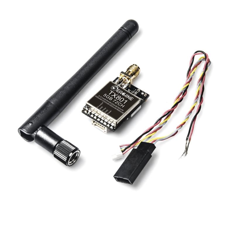 Eachine TX801 5.8G 72CH 0.01mW 5mW 25mW 50mW 100mW 200mW 400mW 600mW Switched AV VTX FPV Transmitter - SNHE