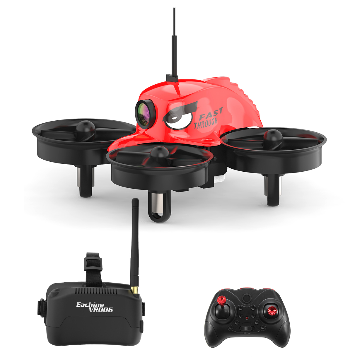 Eachine E013 (Small Pepper) Micro FPV Racing Quadcopter With 5.8G 1000TVL 40CH Camera VR006 VR-006 3 Inch Goggles - SNHE