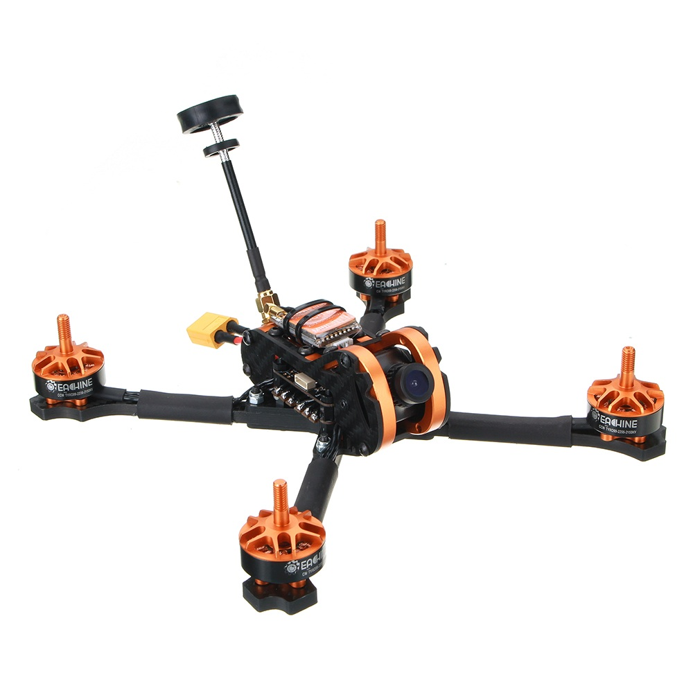 Eachine Tyro99 210mm DIY Version FPV Racing RC Drone F4 OSD 30A BLHeli_S 40CH 600mW VTX 700TVL Cam - SNHE
