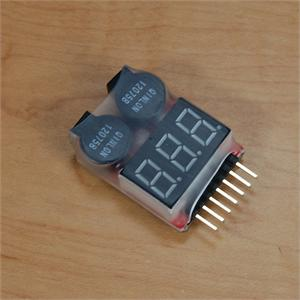 GT POWER 2-8 CELL BATTERY METER - SN Hobbies