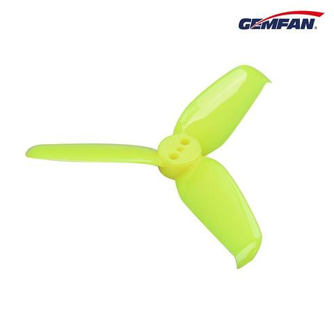 Gemfan <b>2540</b> 4 Pairs Flash 3-Blade Propeller with 1.5mm Mounting Hole - <font color=&quot;yellow&quot;><b>YELLOW</b></font> - SNHE