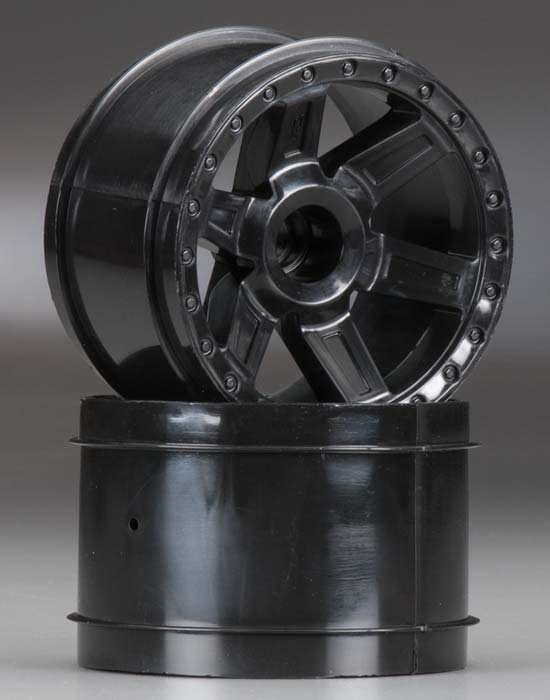 "Pro-Line Desperado 2.8"" Black Front Wheels (2) - SNHE"