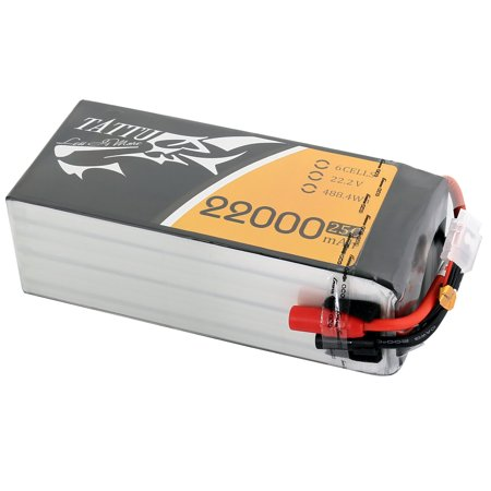 Tattu 22000mAh 22.2V 25C 6S1P Lipo Battery Pack with AS150 +XT150 plug - SNHE