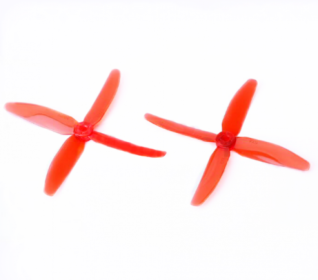 DYS 5040 4-Blade Translucent props (CW/CCW) 1 Pair (Red) - SNHE