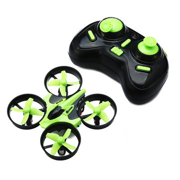 Eachine E010 Mini 2.4G 4CH 6 Axis Headless Mode RC Quadcopter RTF - GREEN - SNHE