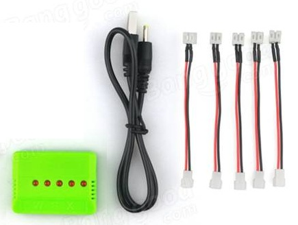 E010 3.7V 150mAh 30C Battery USB Charger - SNHE