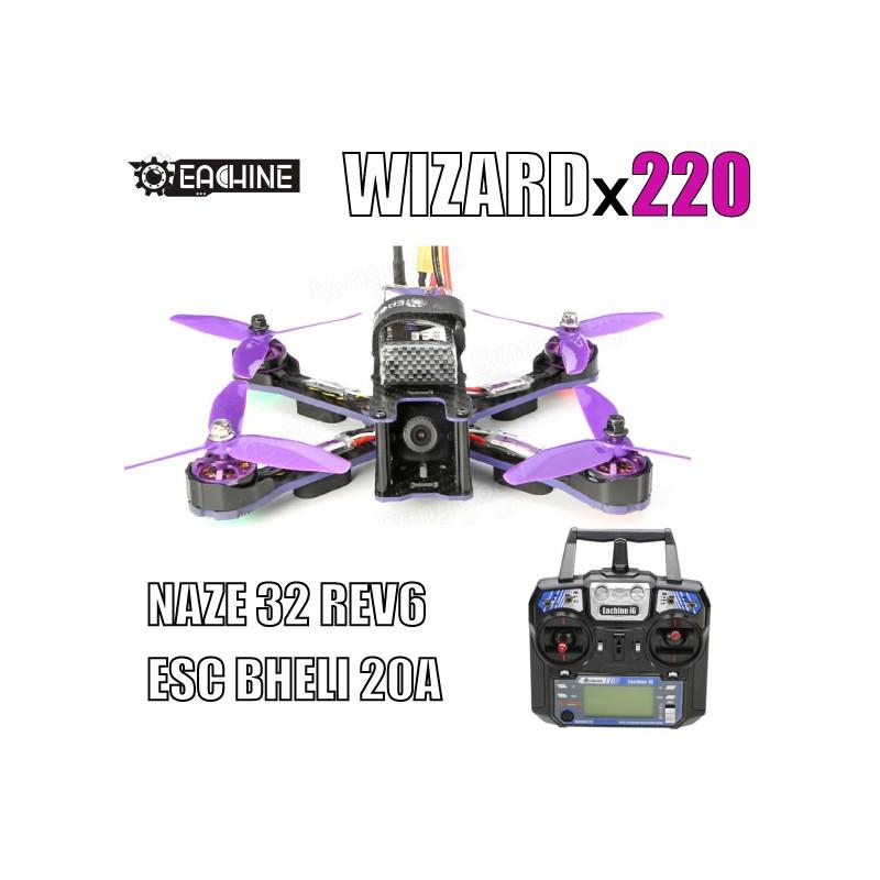 Eachine Wizard X220 FPV Racer Blheli_S F3 Naze32 6DOF 5.8G 48CH 200MW 700TVL Camera w/ FlySky I6 RTF - SNHE