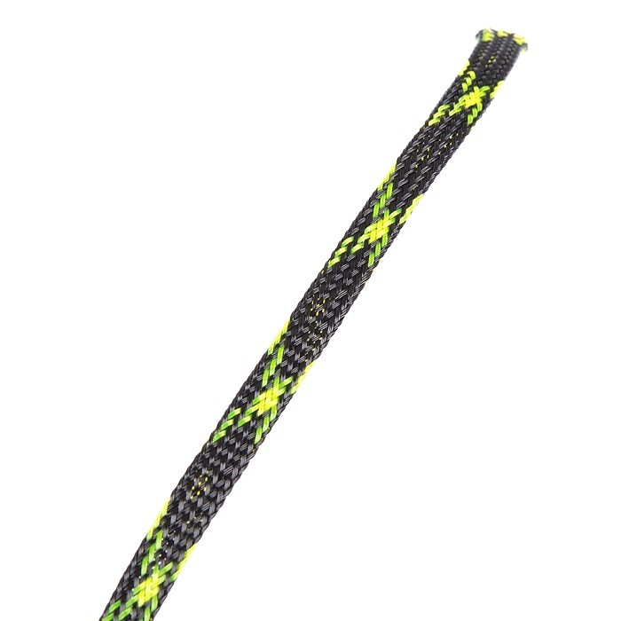 <b>6mm</b> Snakeskin Mesh Wire Protecting PET Nylon Cable Sleeve <b>(1 Meter) - </b><font color=&quot;Yellow&quot;><b>FL Yellow</b></font> - SNHE