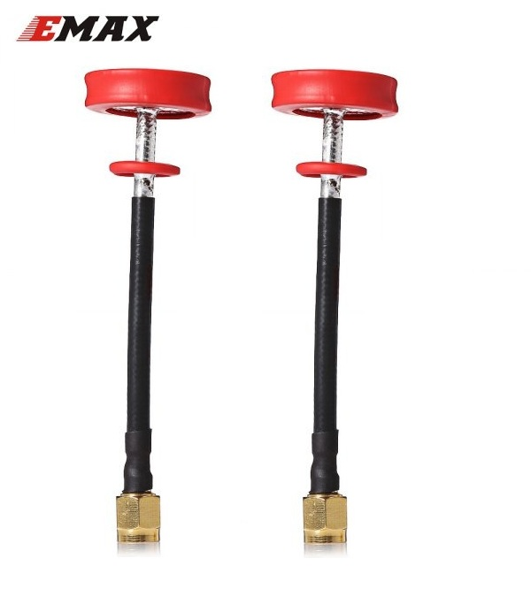 EMAX Pagoda 2 Antenna 5.8G 80mm <b>RHCP <font color=&quot;red&quot;>Red</font></b> Omnidirectional Omni FPV Flat Panel SMA - SNHE