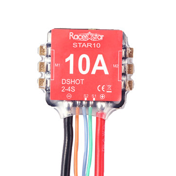 Racerstar 16x16mm Star10 Blheli_S BB2 10A 2-3S 2 In 1 ESC Dshot600 Ready for Mini Racing Drone Brand: Racerstar - SNHE