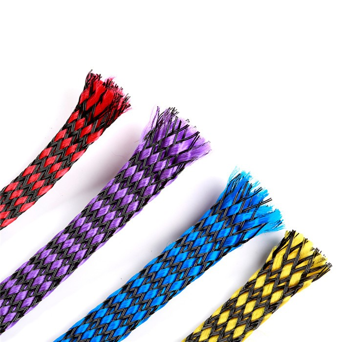<b>8mm</b> Snakeskin Mesh Wire Cotton Plus PET Nylon <b>(1 Meter) - </b><font color=&quot;purple&quot;><b>Purple</b></font> - SNHE