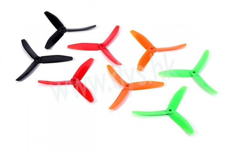 DYS 5040 3-Blade Props (CW/CCW) 1 Pair (Orange) - SNHE