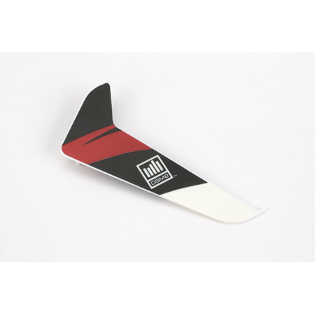 Vertical Fin with Red Decal: 120SR - SN Hobbies