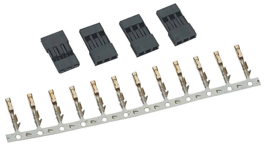 Custom Electronics Un-Assemble Male Connector Set: SPM/JR (4) - SNHE