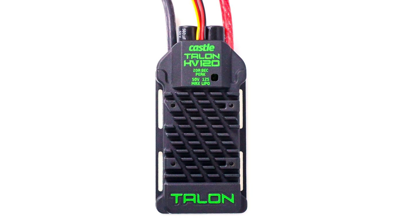 Castle Creations Talon 120HV ESC 120AMP, 12S Max Heavy Duty BEC - SNHE