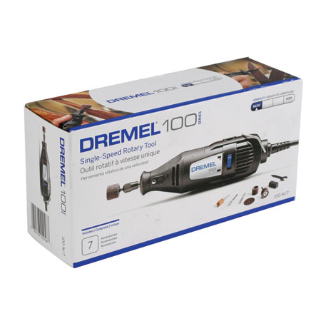 Dremel 100 Single Speed Tool with 7 Accessories - SNHE