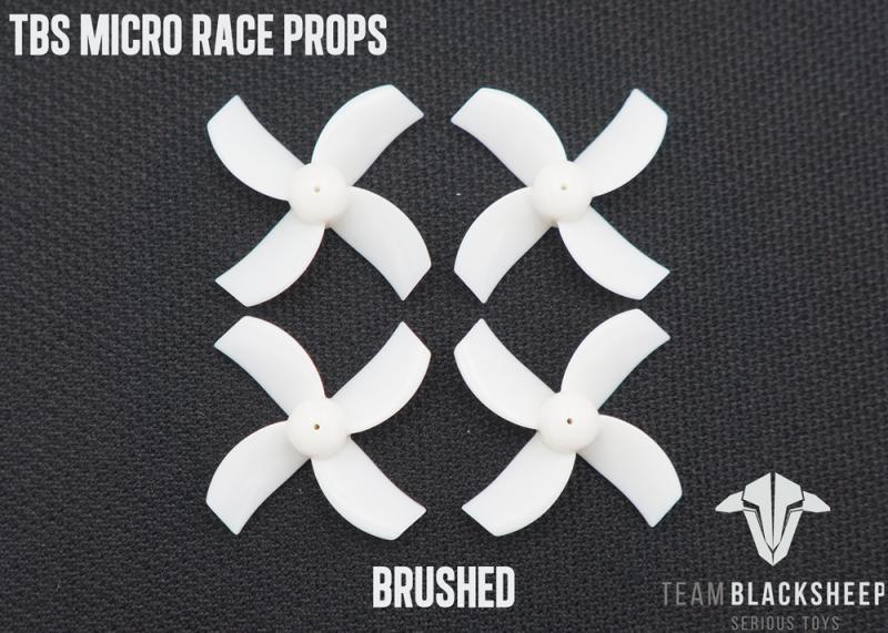 TBS MICRO RACE PROPS <b>(WHITE) (1MM HUB)</b> - SNHE