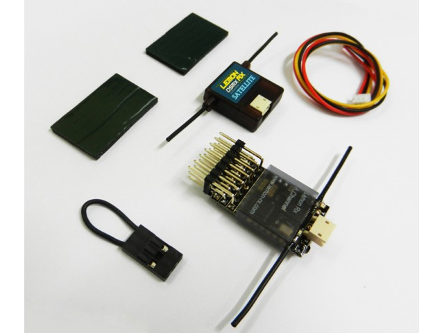 Lemon Rx DSMX Compatible 6-Channel Receiver + Lemon DSMX Compatible Satellite - SNHE