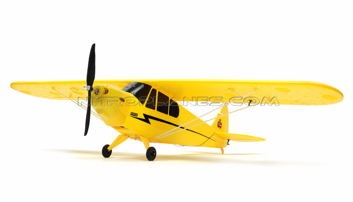 "Dynam Electric Brushless 4-Ch Super J3 Piper Cub 42"" Remote Control RC Plane RTF 2.4 ghz - SN Hobbies"