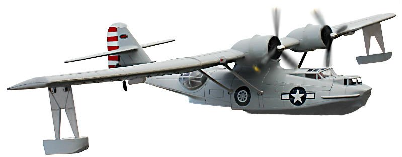 Dynam PBY Catalina Brushless Powered RC Seaplane Plug-N-Play - SNHE