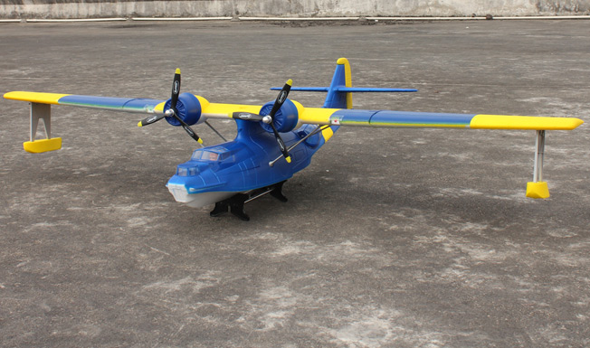 Dynam PBY Catalina(Blue) Brushless Powered RC Seaplane Plug-N-Play - SN Hobbies