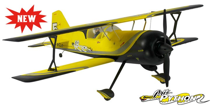 Dynam Pitts Model 12 Large RC Bi-Plane PNP (YELLOW) - SN Hobbies
