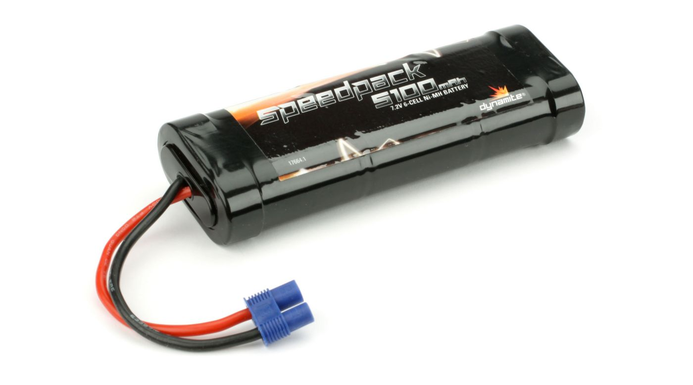 Speedpack 7.2V 5100mAh NiMH 6-Cell Flat with EC3 Conn - SNHE