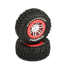Dynamite SpeedTreads™ Shootout™ SC Tires Mounted: Slash Rear, Slash 4x4 Front/Rear, ECX (2) - SNHE