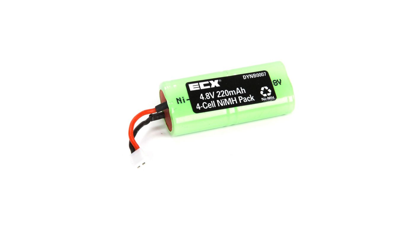 Dynamite 4.8V 220mAh NiMH Pack: Micro SCT, Rally, Truggy - SNHE