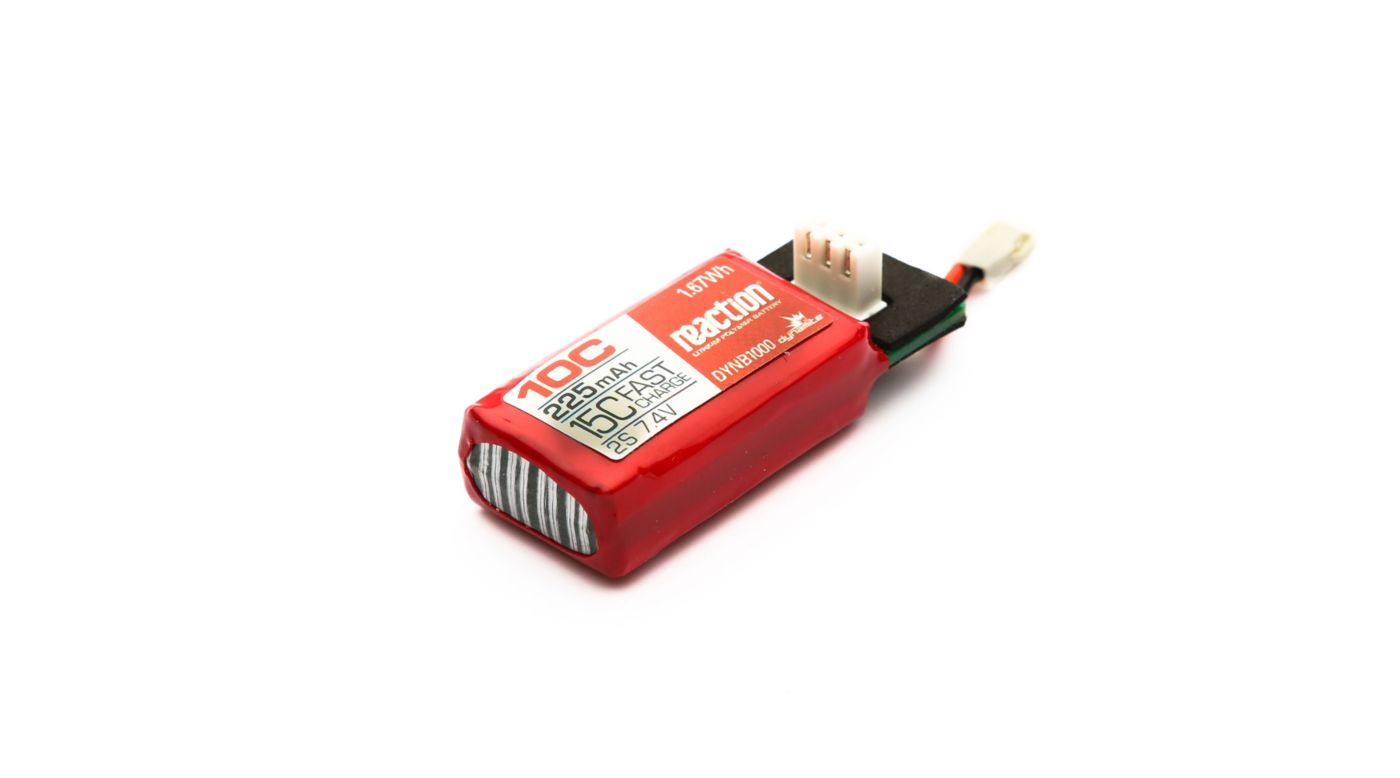Dynamite Reaction 225mAh 2S 7.4V 10C HyperCharge LiPo Battery - SNHE
