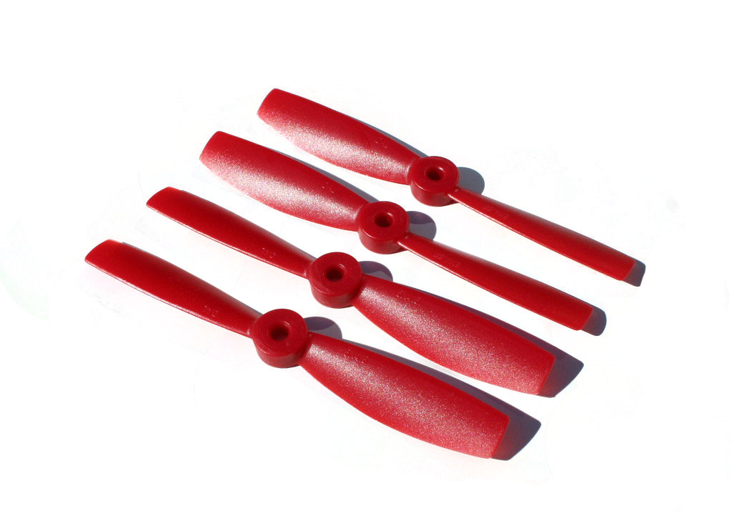 DAL 2 Blade Bullnose Propellers - 6 x 4.5 (2CW+2CCW) - <font color=&quot;red&quot;><b>RED</b></font> - SNHE