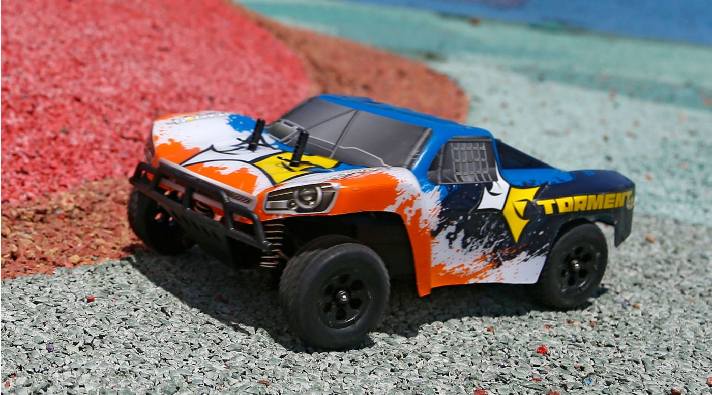 ECX 1/24 Torment 4WD Short Course Truck RTR, Black/Orange - SNHE