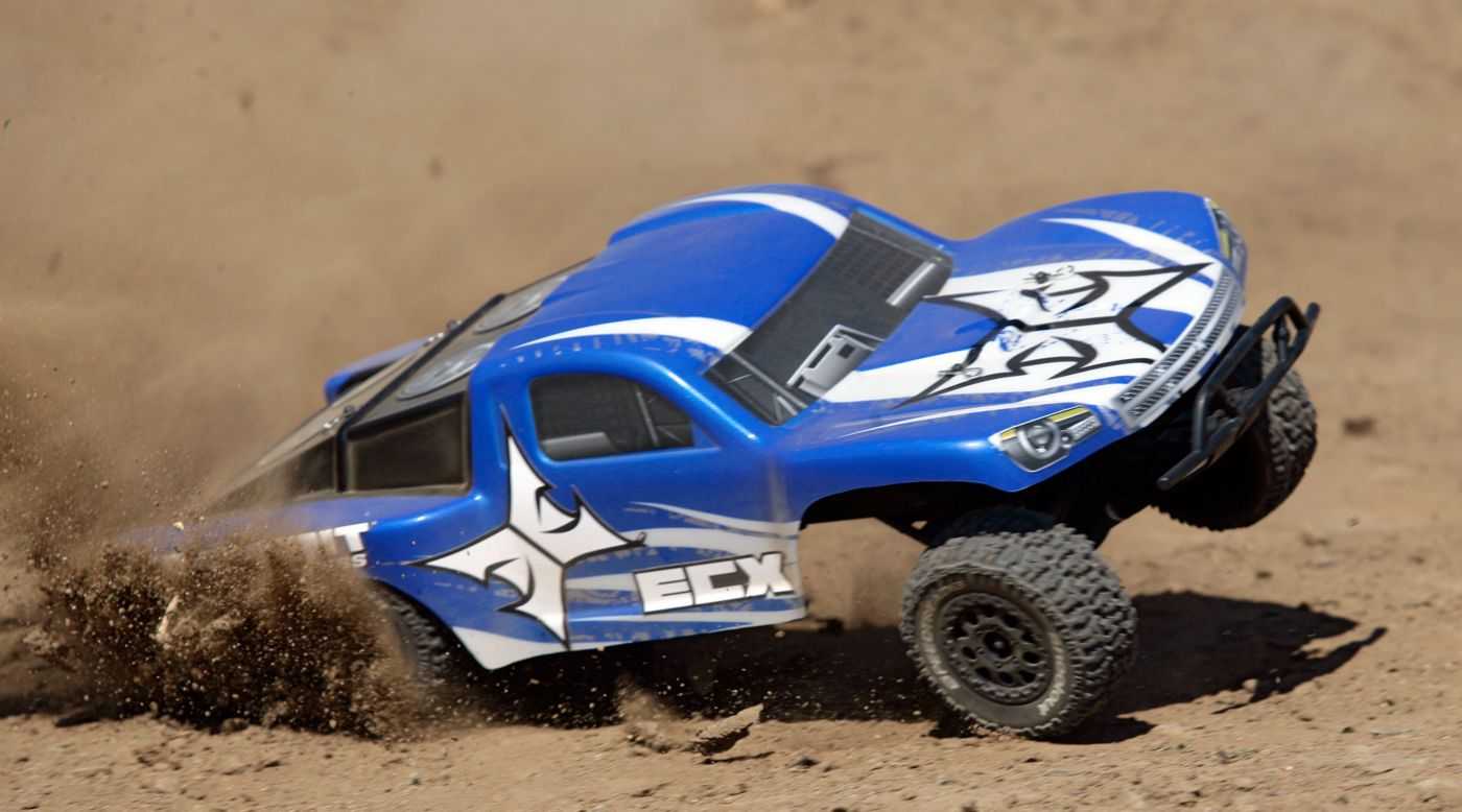ECX 1/10 Torment 2WD SCT Brushless RTR with AVC, Blue - SNHE