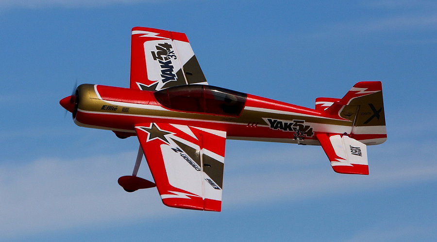 E-flite Carbon-Z� Yak 54 3X BNF Basic with AS3X� Technology - SN Hobbies