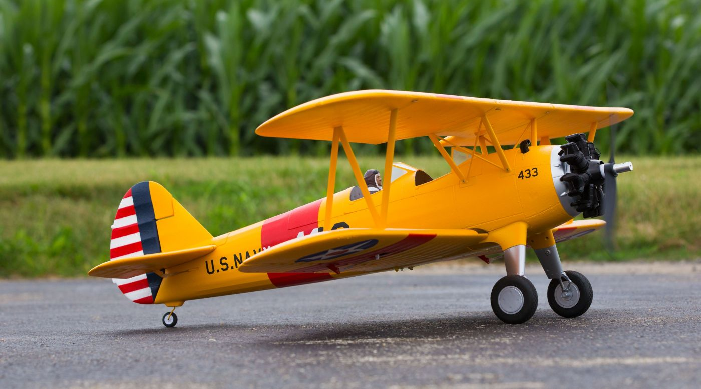 E-flite PT-17 1.1m BNF Basic with AS3X - SNHE