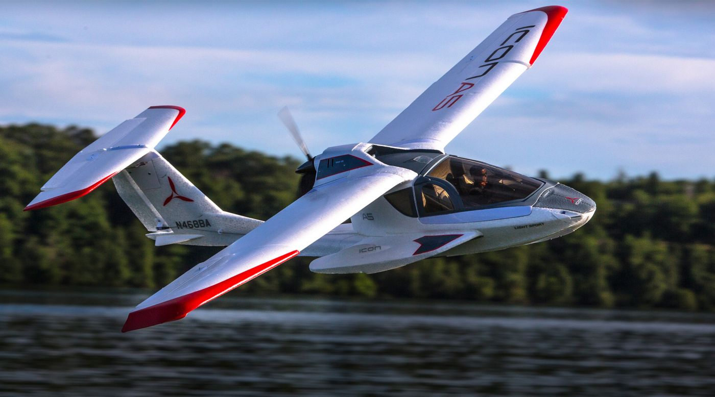 E-flite ICON A5 1.3m BNF Basic with AS3X® - SNHE