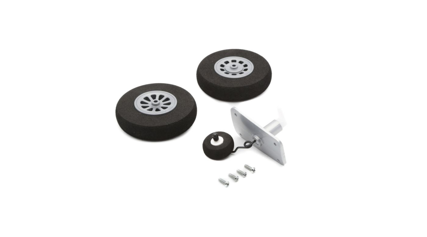 E-flite Wheel Set, Mains 65mm, Tail 28mm: P-51D - SNHE