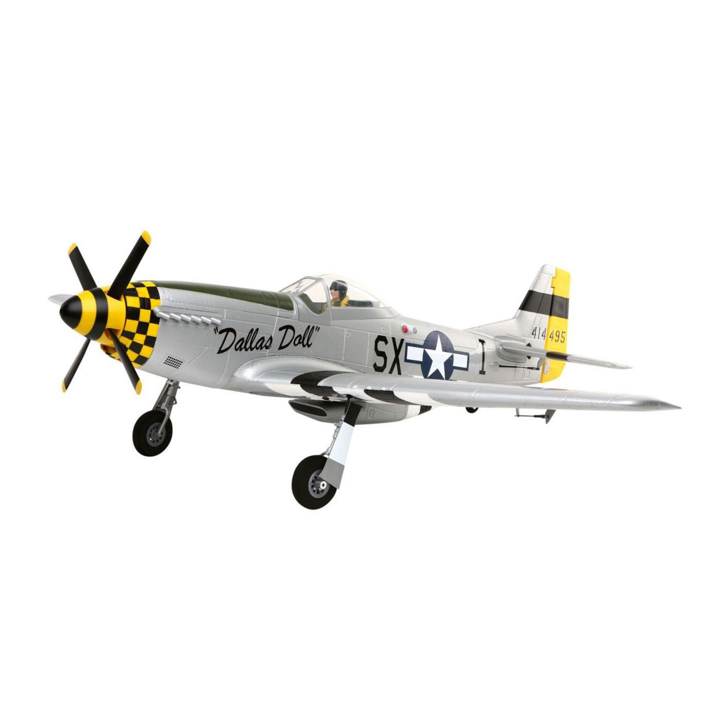E-Flite P-51D Mustang BNF Basic with AS3X� Technology - SNHE