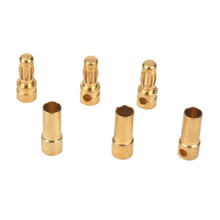 Gold Bullet Connector Set,3.5mm (3) - SNHE