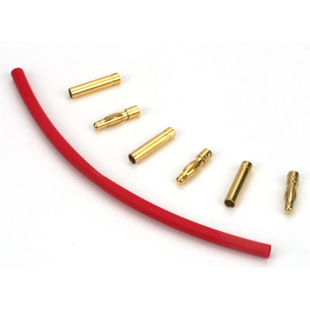 Gold Bullet Connector Set, 4mm (3) - SN Hobbies