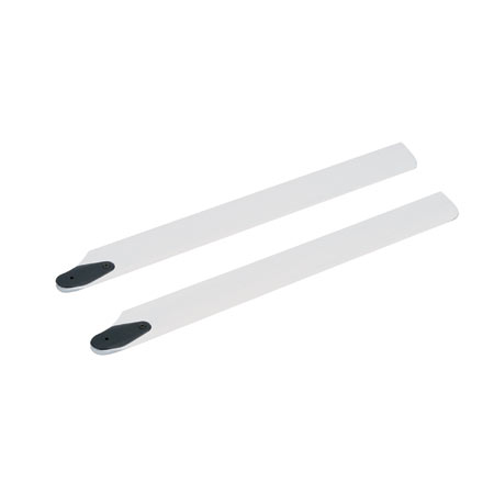 245mm Wood Main Rotor Blade Set, White: BSR - SN Hobbies