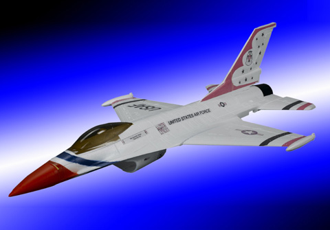 Mini F-16 Fighting Falcon Brushless Ducted Fan Jet PLane White - SN Hobbies